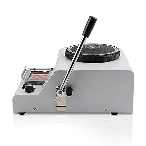 Autovictoria 72 caracteres grabación en relieve de la tarjeta de PVC máquina manual letras impresora de matriz punzonadora por VIP tarjeta de regalo de la ...