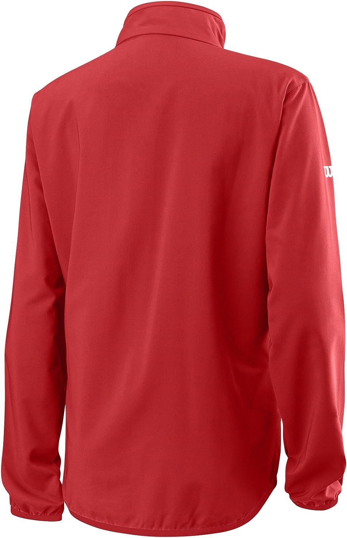 Wilson Damen Trainingsjacke Polyester WRA766404 Rot//Wei/ß Gr/ö/ße: S W Team Woven Jacket