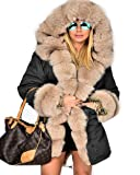 Roiii Womens Hooded Camouflage Warm Winter Coats