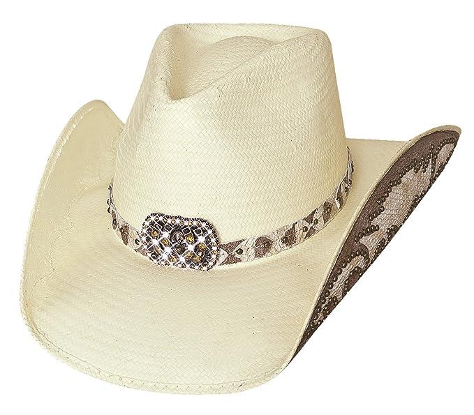 f4279567cc0f7 Montecarlo Bullhide Hats COWGIRL FANTASY - Shantung Panama Straw Western  Cowboy Hat (Small)
