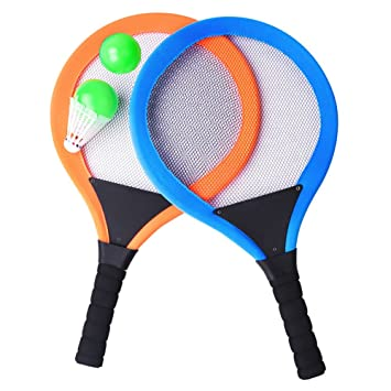YIMORE Raquetas de Tenis Bádminton con Bolas 2 en 1 Juguete para Niños Juego de Playa al Aire Libre para Niños: Amazon.es: Juguetes y juegos