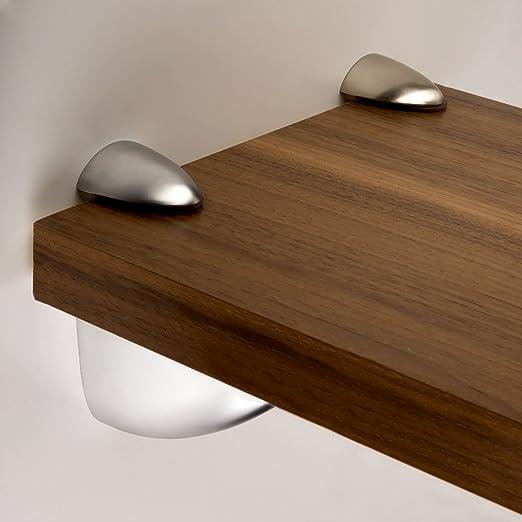 SO-TECH® Soporte para estantería de cristal PELIKAN (mediano) aspecto de acero fino: Amazon.es: Bricolaje y herramientas
