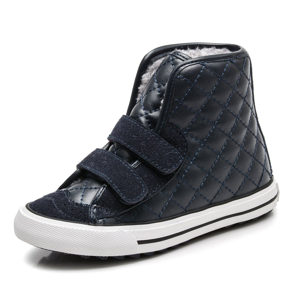 KEESKY Boy's and Girl's Leather Waterproof Boot Deep Blue Toddler Size 10