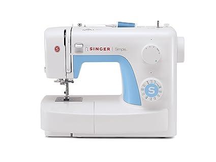Singer 043224 simple 3221 Máquina de coser + Bolsa de transporte cosido a mano color blanco
