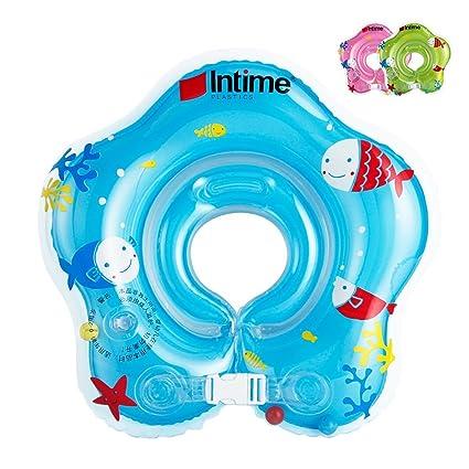 Ibanana - Flotador ajustable inflable para bebé de 1a18meses