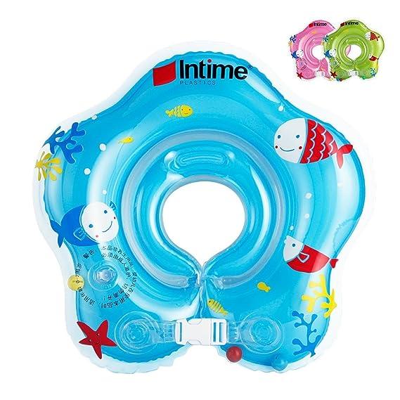 Ibanana - Flotador ajustable inflable para bebé de 1 a 18 meses, azul: Amazon.es: Deportes y aire libre