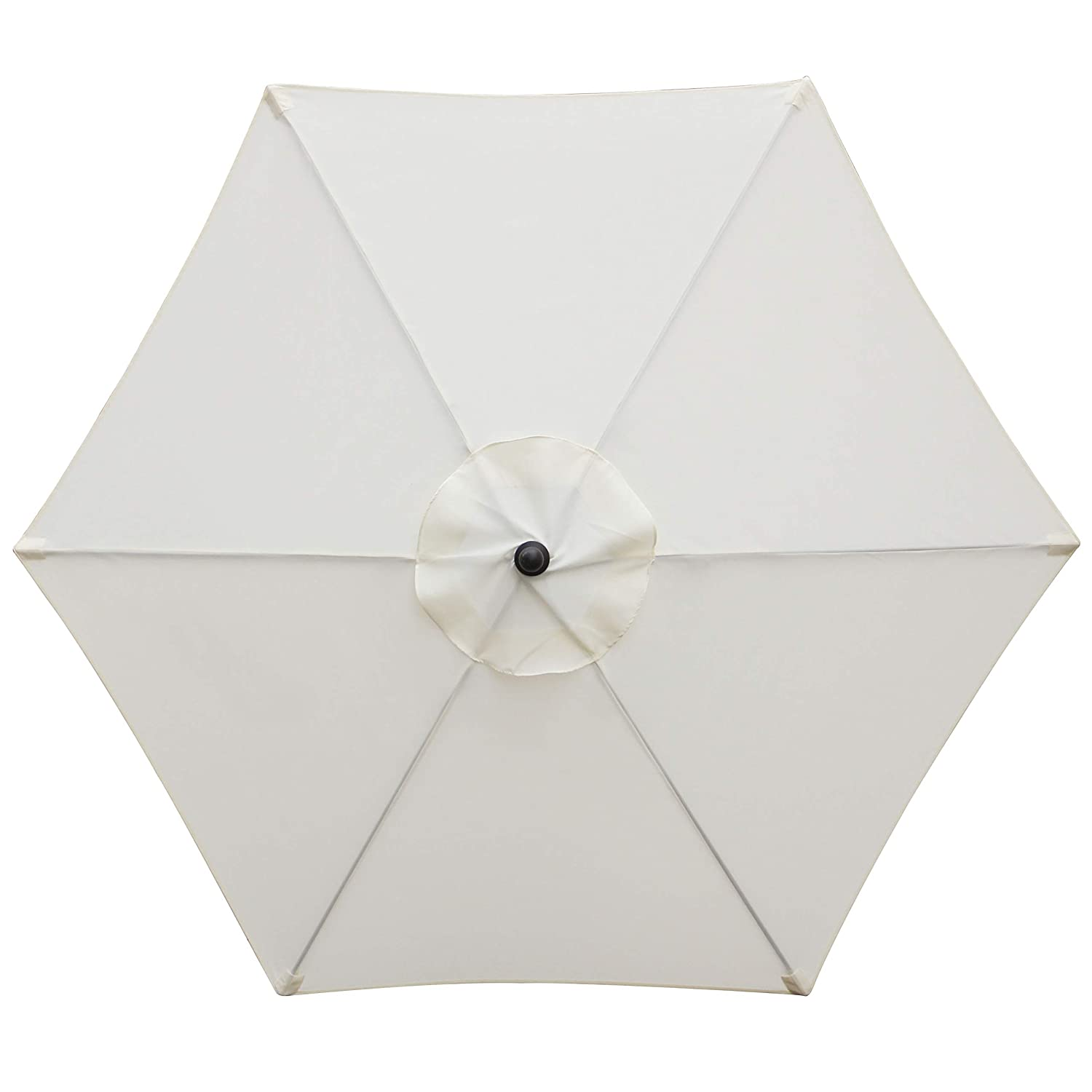 Blissun 7.5 ft Patio Umbrella, Yard Umbrella with Push Button Tilt and Crank Beige