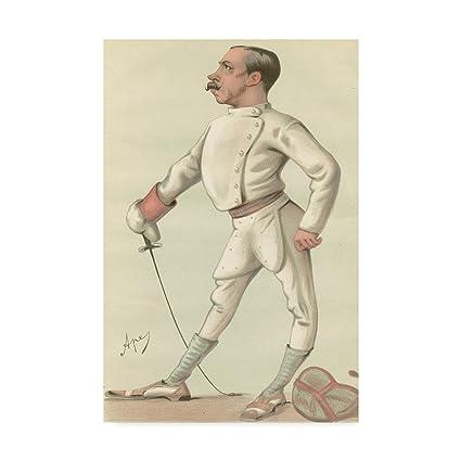 Amazon com: Trademark Fine Art Vanity Fair Fencing by Spy