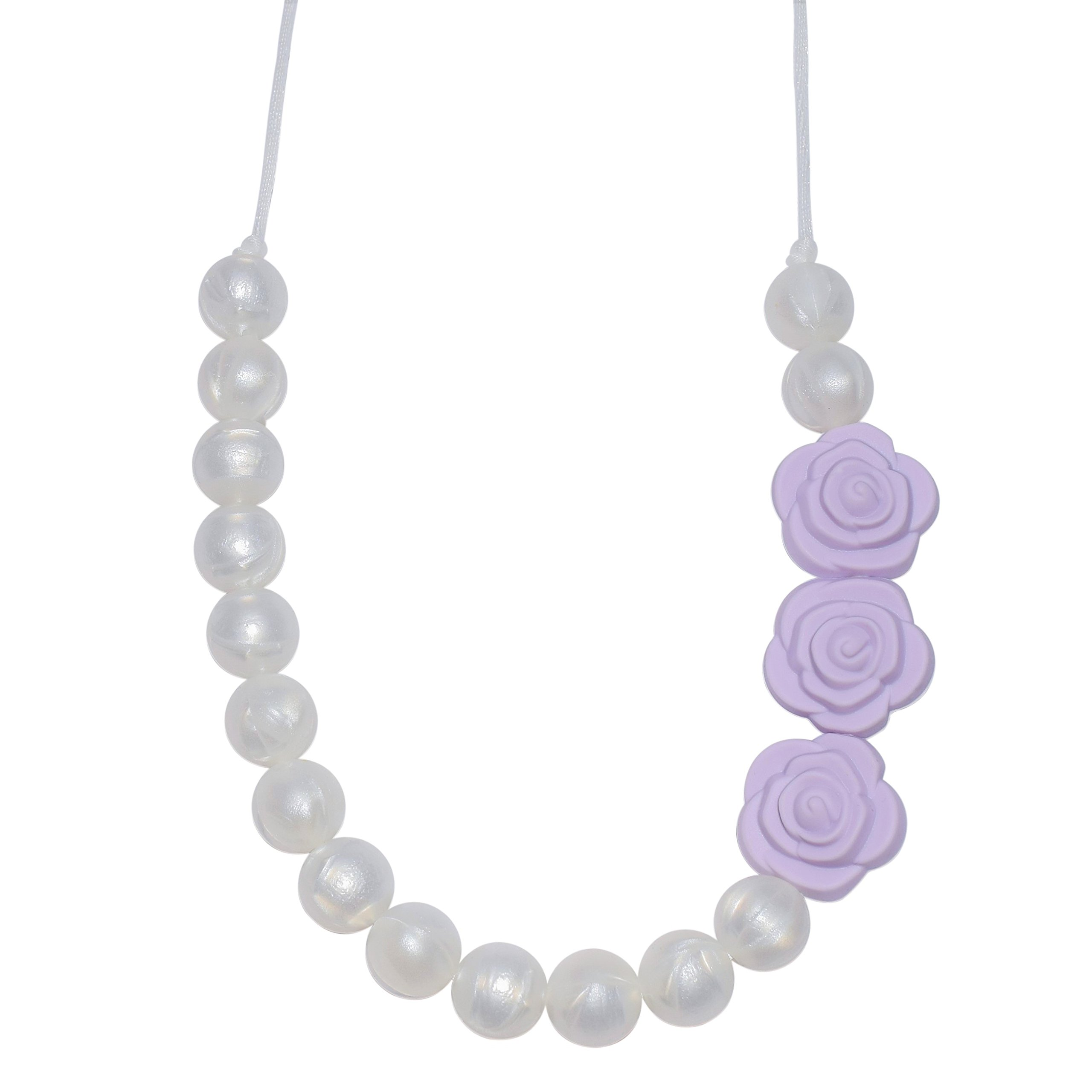 Sensory Chew Necklace for Girls' - Pearl Roses Chewelry