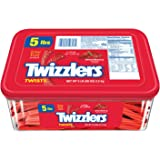 TWIZZLERS Twists, Strawberry Flavored Licorice Candy, 5 Pound Container