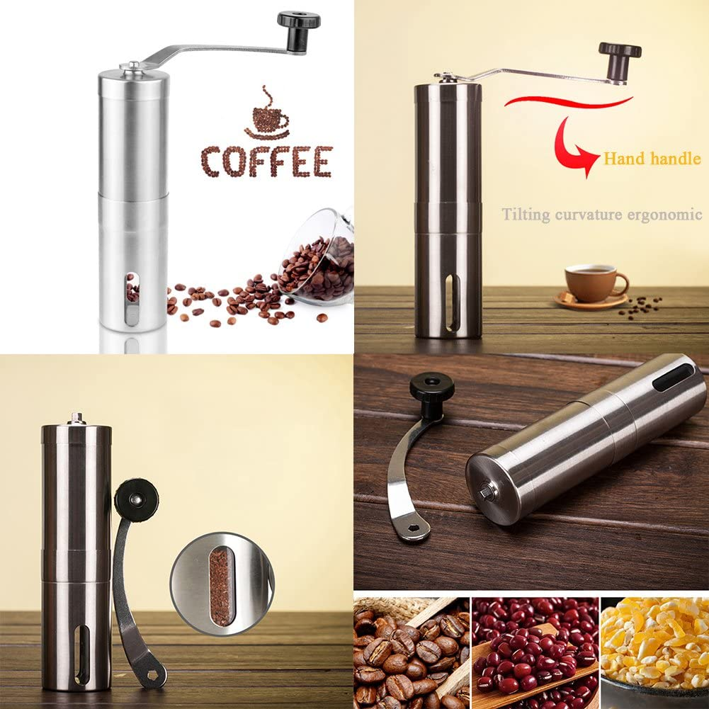 SDMH Manual Coffee Grinder Ceramic Grinder Adjustable Grinding Roughness Rugged Removable Washable