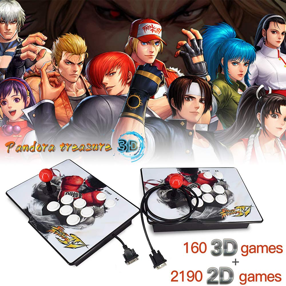XFUNY Arcade Game Console 1080P 3D & 2D Games 2350 in 1 Pandora's Box 2 Players Arcade Machine with Arcade Joystick Support Expand 6000+ Games for TV / Laptop / PC / PS4 by XFUNY (Image #1)