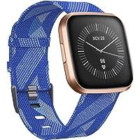 CAVN Armband Compatibel met fitbit Versa 2 Band Geweven, Stof Armbanden Nylon Sport Polsbandjes met Verstelbare Sluiting Horlogeband voor Versa/Versa Lite/Versa 2 Smartwatch