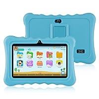 Ainol Q88-(tablet para niños con wifi de 7 pulgadas,Tablet infantil de Android 7.1, regalo para niños,Quad Core 1GB+8GB,Soporta Tarjeta TF 64GB,doble cámara,juegos educativos) Azul