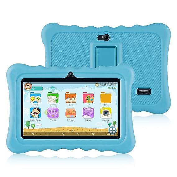 Ainol Q88 Tablet para Niños,Android 7.1, 1GB RAM + 16GB ROM,Resolución de 1024*600 Píxeles,Soporte de Funda de Silicona,Facilitando Educación y ...