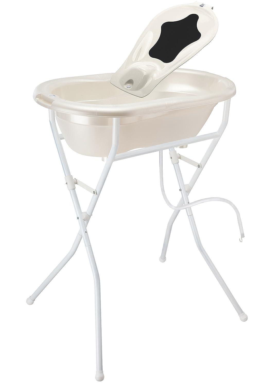 Rotho Babydesign Set de Bain complet avec Baignoire et Support Solution de Bain Id/éale TOP Bleu clair 0-12 Mois 21049010301