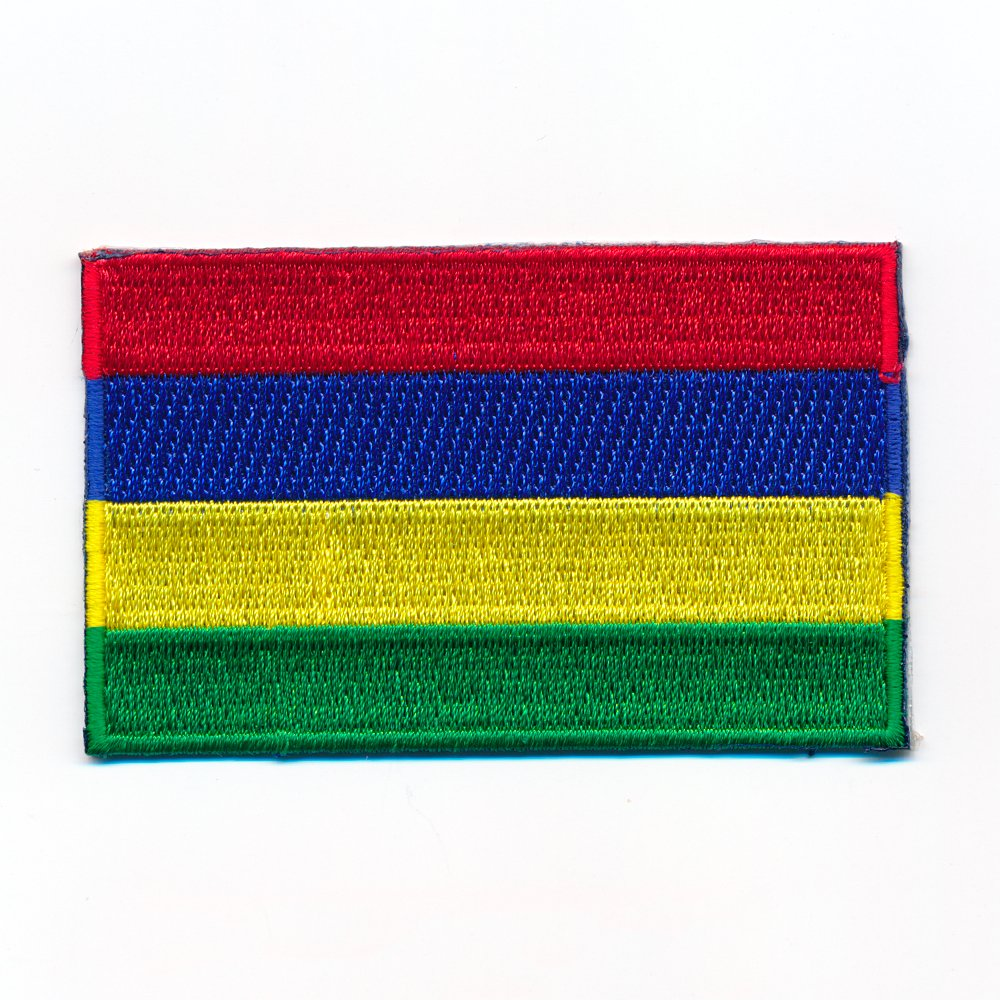 80/x 50/mm Rodrigues Port Louis Mauritius Flag Sew-On Badge//Iron-On Patch 1018/x