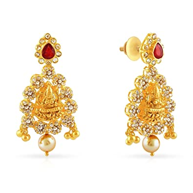 a6b7a7f55 Buy Malabar Gold and Diamonds 22KT Yellow Gold Drop Earrings for Women  Online at Low Prices in India | Amazon Jewellery Store - Amazon.in