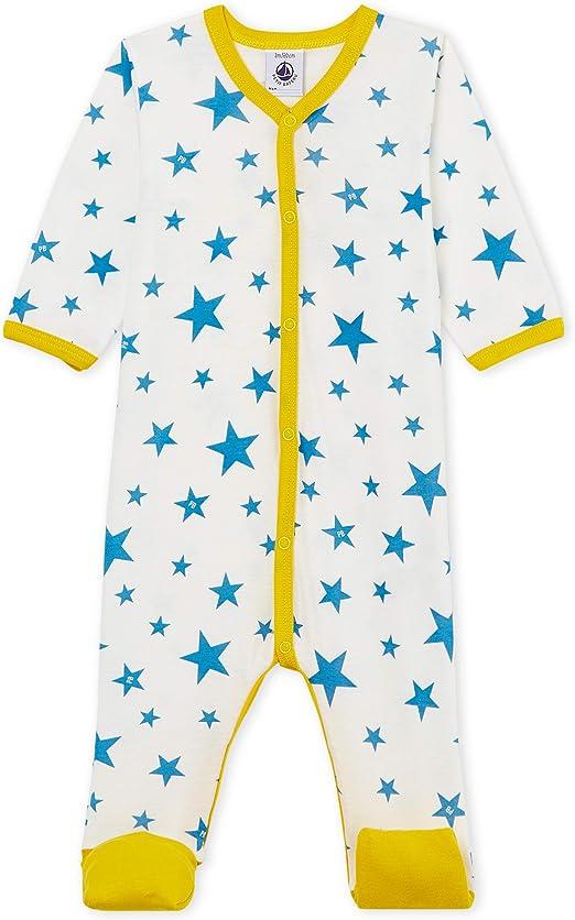 Petit Bateau Unisex Baby Schlafstrampler