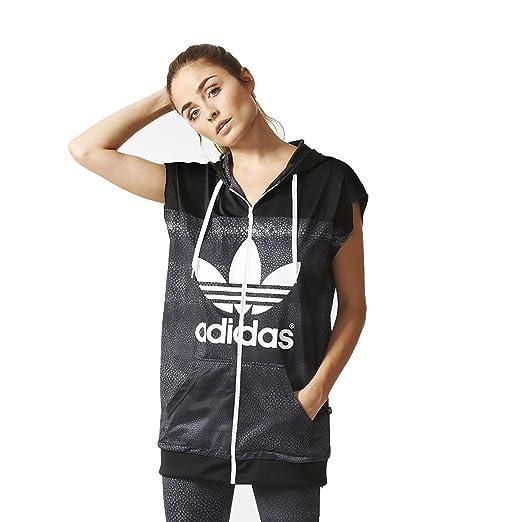 newest d189d 0f0a1 ... Adidas Originals Rita Ora Mystic Moon TT Track Jacket AA3864 Black  Women s Vest (size ...