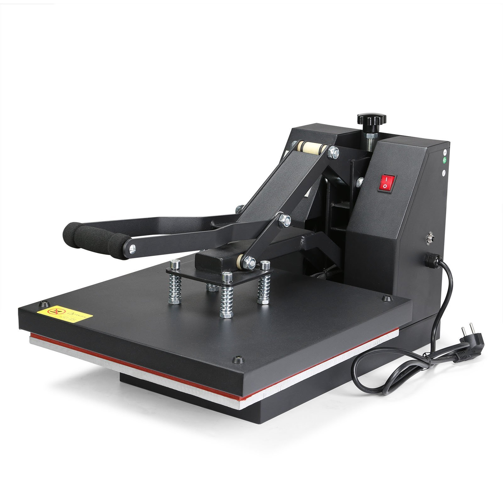 VEVOR Digital Clamshell High Pressure Heat Press Machine for T-Shirts, LCD Display Heavy Duty Commercial-Grade, 15'' H x 15'' W, 1400W