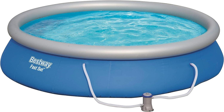Piscina con Anillo Hinchable, C/írculo, 9677 L, Azul, 67 cm, PVC Bestway Fast Set 57313 Piscina