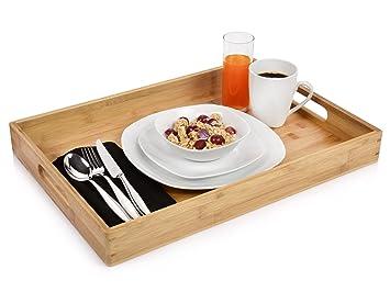 Frühstückstablett bluespoon tablett aus bambus maße des serviertabletts 50x35x5 5 cm