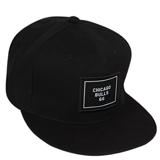 20d117785e3 ILU Chicago Bulls 66 Men s Polyster Snapback Hiphop Cap Black Freesize   Amazon.in  Clothing   Accessories