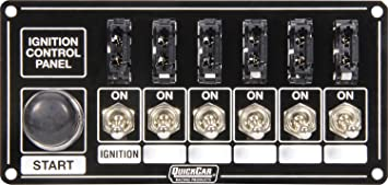 Quickcar Racing Products 50-865 Ignition Panel Blk w//Start But 5 Acc