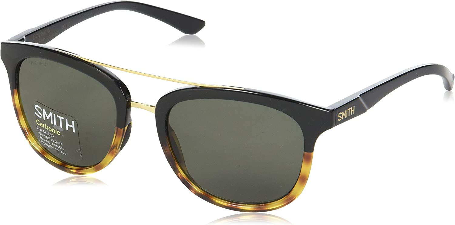 Smith Clayton/N IN SII 53 Gafas de sol, Negro (Bkfade Torto/Grey Green Pz), Unisex Adulto