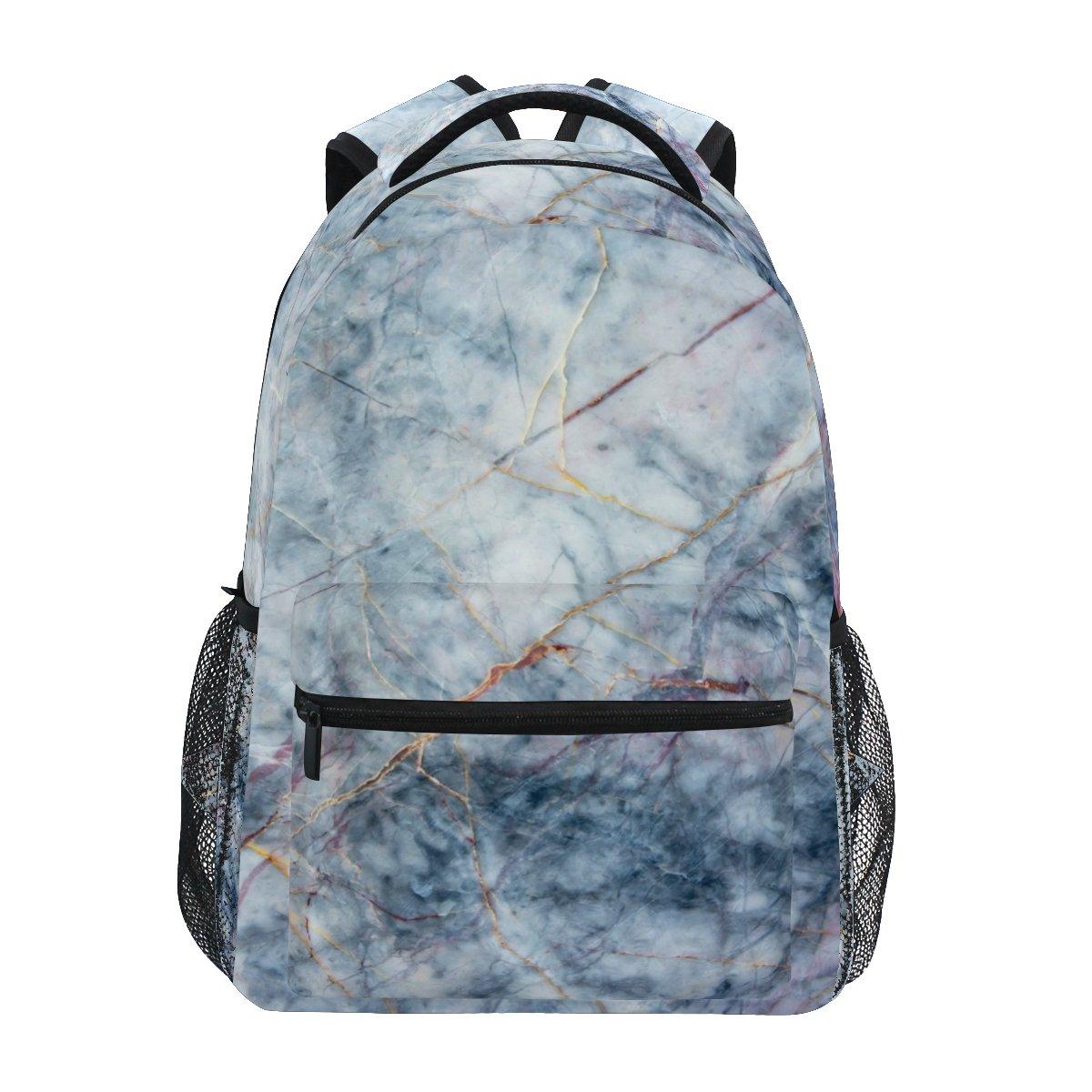 Zzkko gestreift Marmor Rucksäcke College School Book Bag Travel Wandern Camping Tagesrucksack B07BGWG628 Kinderruckscke Allgemeines Produkt
