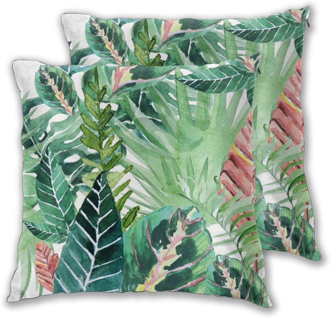 Cushion Covers Pack of 2 Cushion Covers Throw Pillow Cases Shells for Couch Sofa Home Decor Havana Jungle 45cm x ...