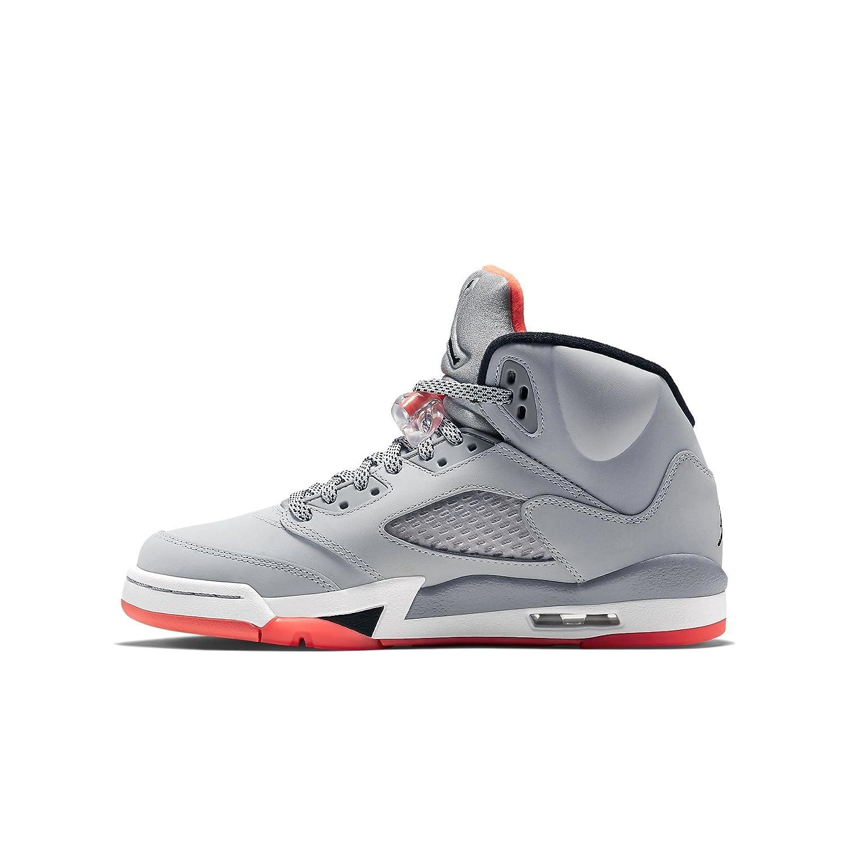 2bd88b08f7f Amazon.com   Nike Girls Air Jordan 5 Retro GG Grey/Lava/Black 440892-018    Basketball