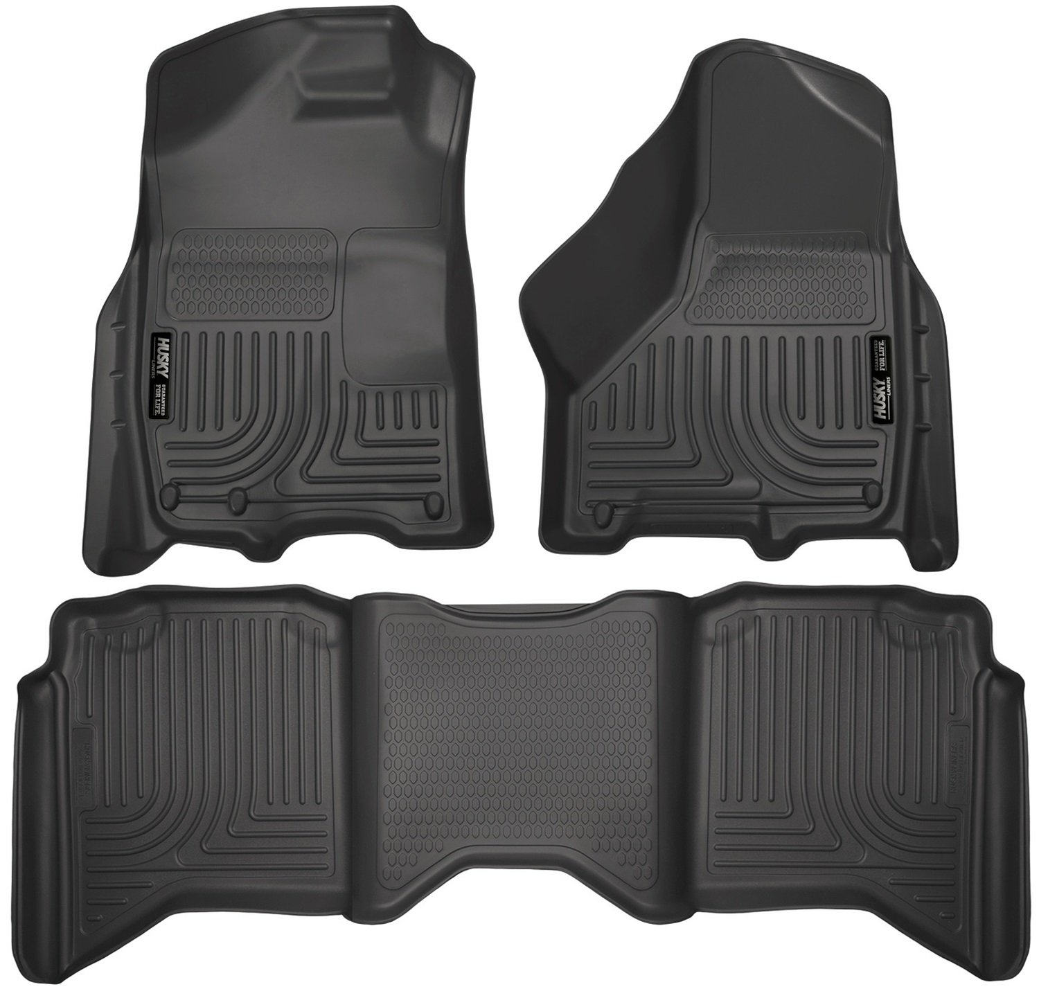 Amazon.com: Husky Liners Front U0026 2nd Seat Floor Liners Fits 09 17 Ram 1500  Crew Cab   Weatherbeater: Automotive