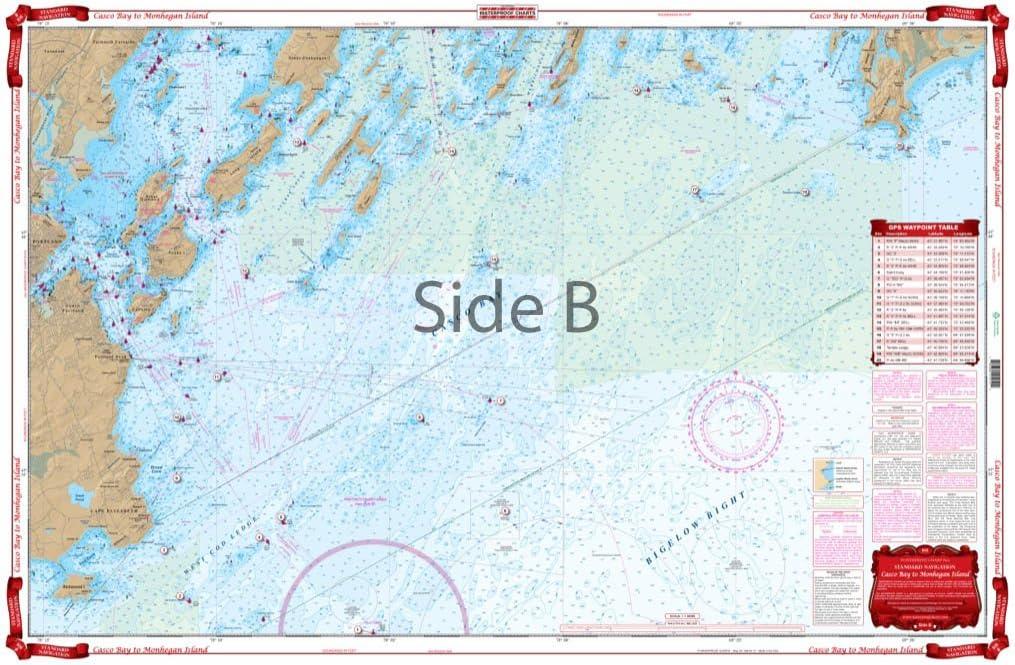 NOAA Water Resistant Paper Chart Casco Bay Monhegan Island Cape Elizabeth 13288