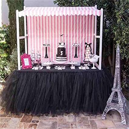 Amazon stuffwholesale handmade table skirts tulle tutu table stuffwholesale handmade table skirts tulle tutu table skirt for wedding decoration halloween supplies party table decoration junglespirit Gallery