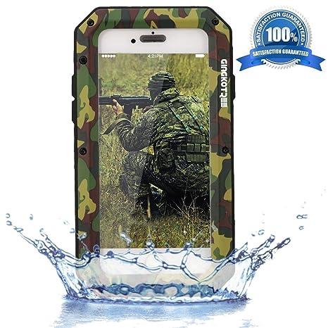 GingkoTree Funda iPhone 5 / 5S PUBG [protección rubusta] Metal Armadura Carcasa Antigolpes Resistente Protege y Fuerte [Cuerpo Completo], con Cubierta ...