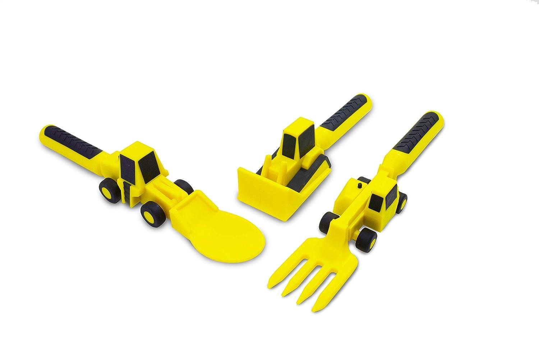 Kinderteller Constructive Eating Baustelle Teller Fahrzeuge Bagger Stapler