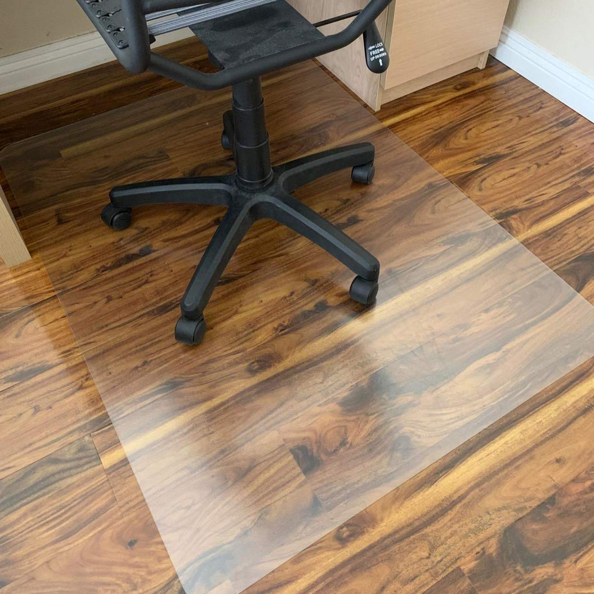 Polycarbonate Office Chair Mat for Hardwood Floor,Floor Mat for Office Chair(Rolling Chairs)-Desk Mat&Office Mat for Hardwood Floor-Sturdy&Durable,Immediately Flat When Taken Out of Box: 36''x48'' 2 Pcs by Rose Home Fashion