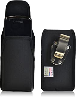 product image for Turtleback Belt Clip Case Made for Kyocera Brigadier Black Vertical Holster Nylon Pouch with Heavy Duty Rotating Belt Clip Made in USA