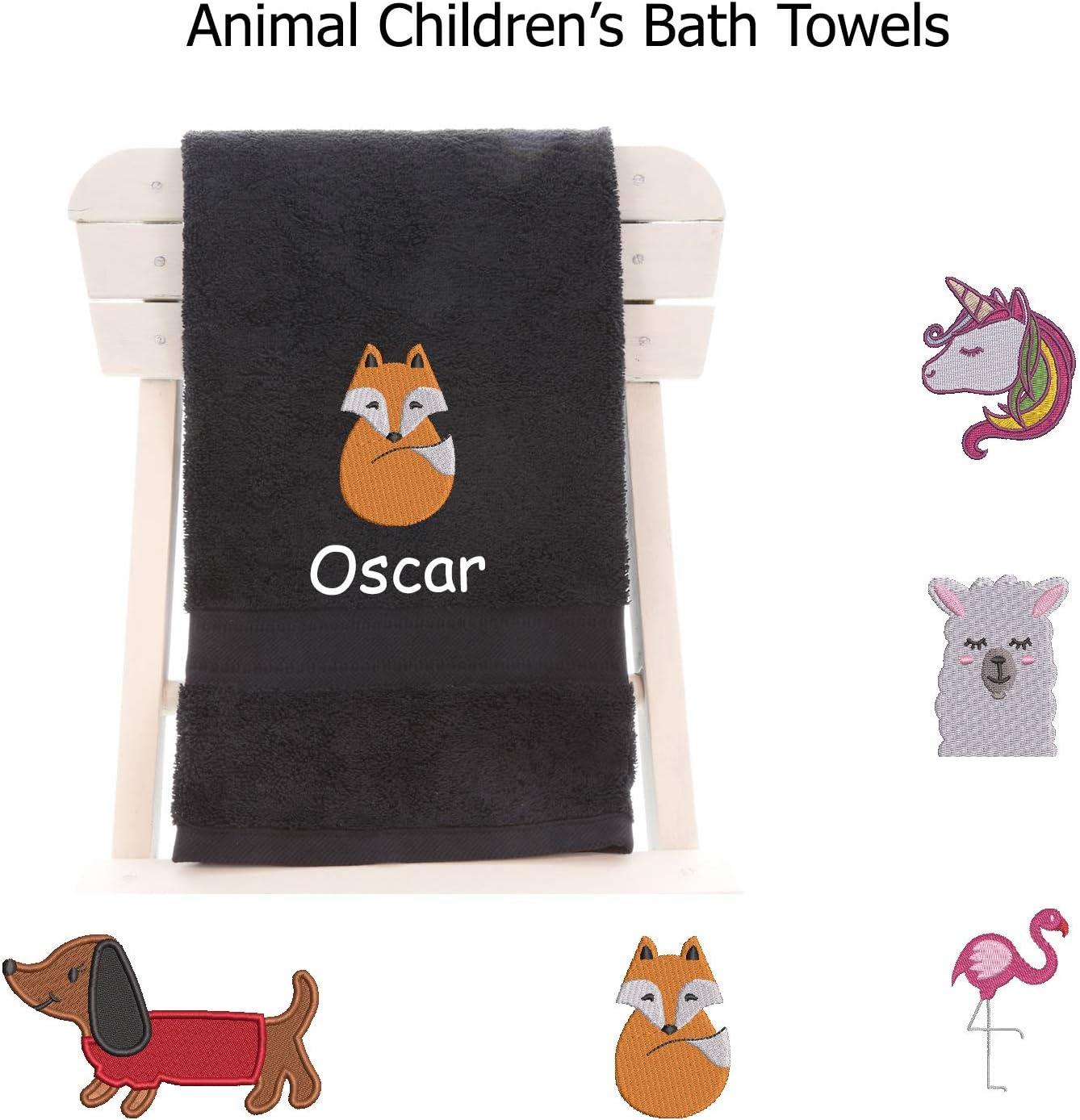 Black school camps perfect for bath time 70cm x 130cm aztex Animal Logo Bath Towel 100/% cotton swimming sleepovers beach