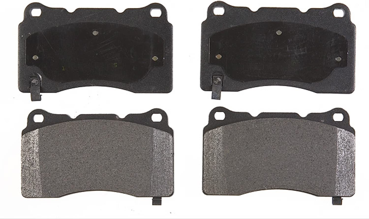 ACDelco 14D506M Advantage Semi-Metallic Front Disc Brake Pad Set with Wear Sensor