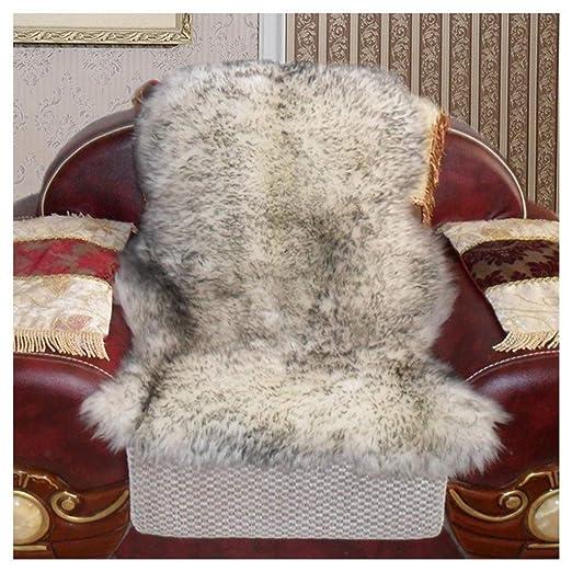 Alfombra de lana, Cojín de sofá de lana, Peluche blanco ...