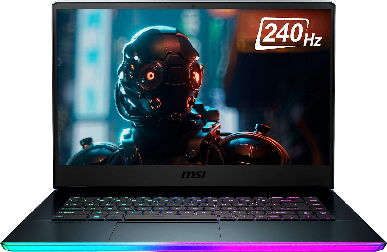 MSI GE66 Raider 10SFS 15.6-inch 1TB SSD 2.6GHz i7 Gaming Laptop (32GB RAM, 6-Core i7-10750H, GeForce RTX 2070, Windows 10 Home) GE66048, Aluminum Black