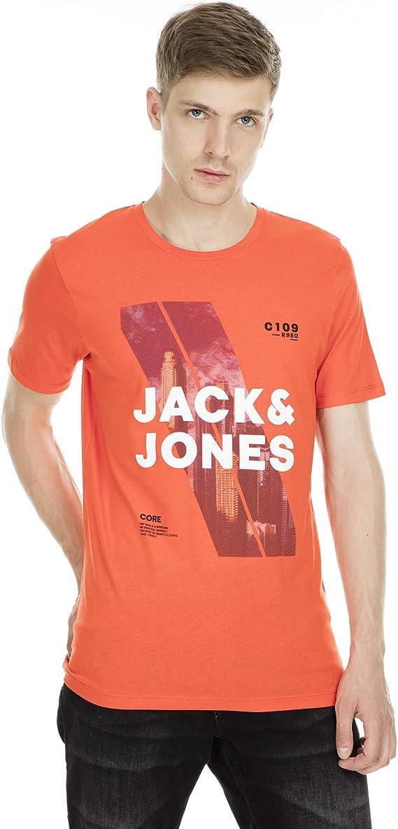 Jack /& Jones Core T-Shirt Mens Chest Logo Print Crew Neck Short Sleeve Tee