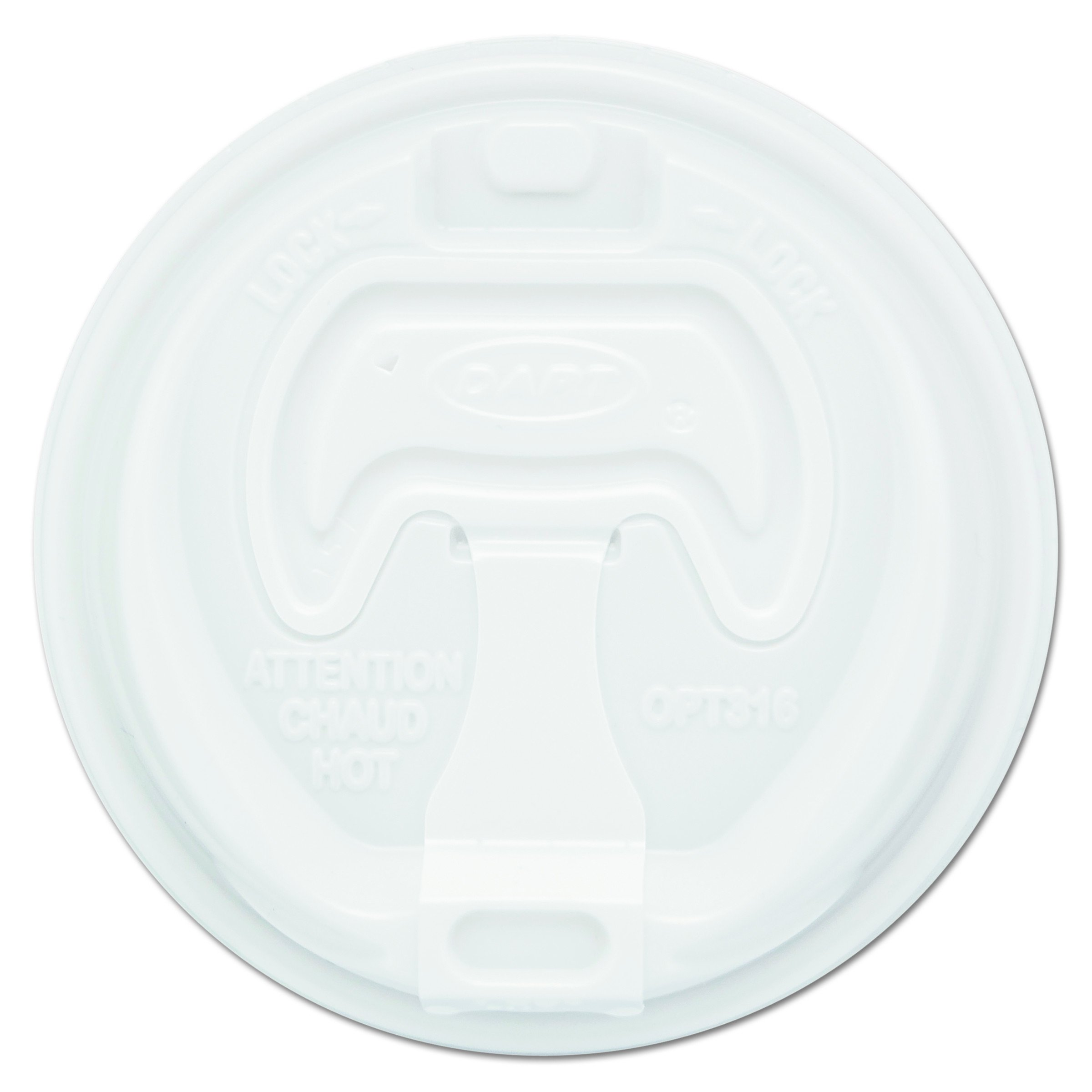 Dart 16RCL White Optima Reclosable Lid (Case of 1000) by DART