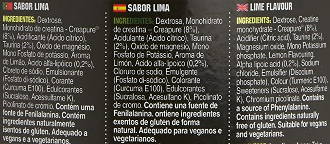 GoldNutrition Creatine Power Mix, Lima/Limón - 1000 gr: Amazon.es: Salud y cuidado personal