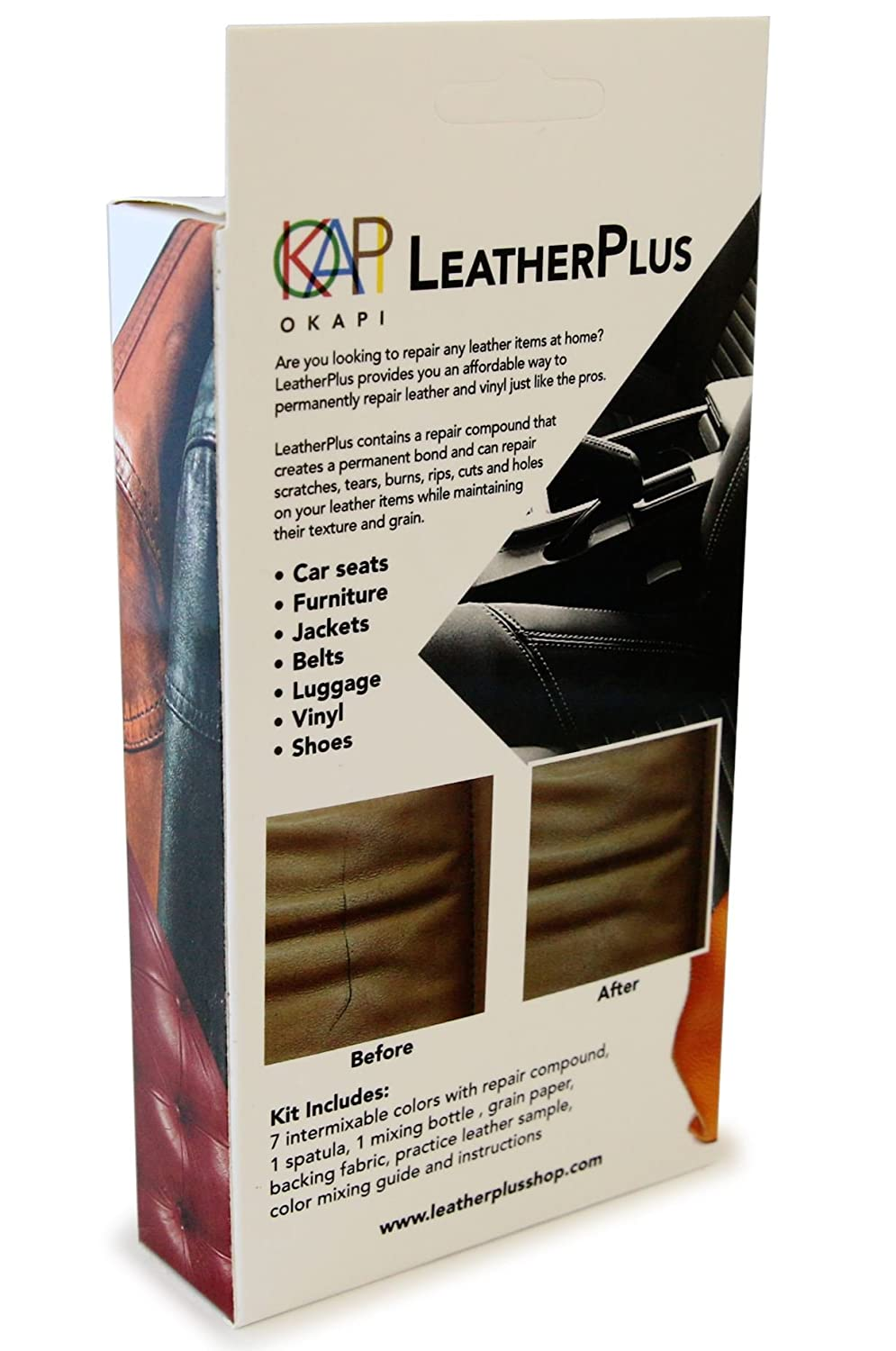 Leather jacket repair kit - Amazon Com Leatherplus Leather And Vinyl Repair And Restoration Kit For Couch Car Seats Sofa Jackets Purse Boots Fast Drying No Heat Adhesive