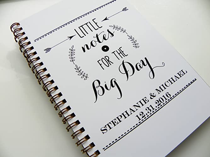 Amazoncom Wedding Notebook Little Notes For The Big Day Wedding