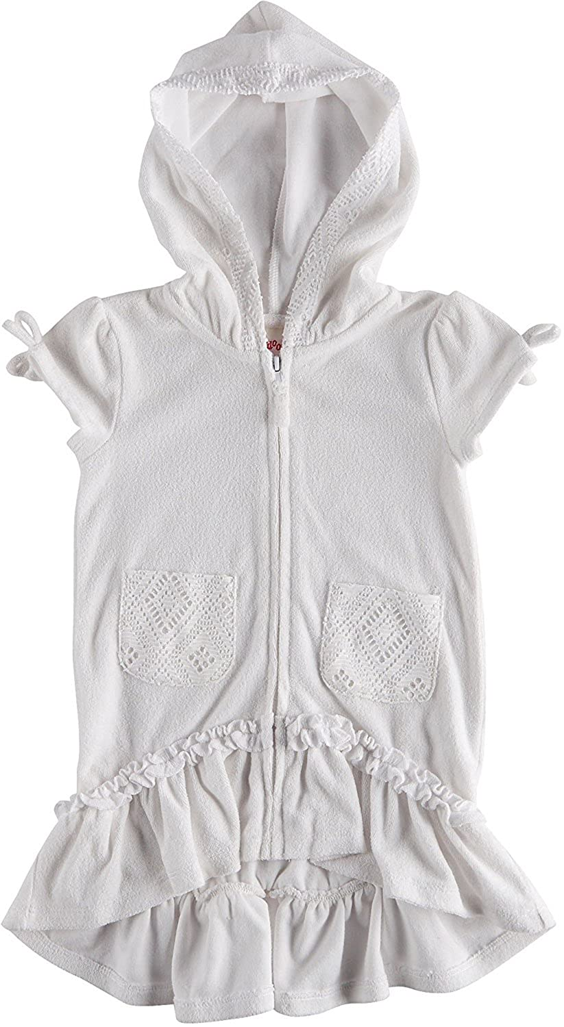 Flapdoodles Girls Terry Hooded Swimsuit Beach Cover up